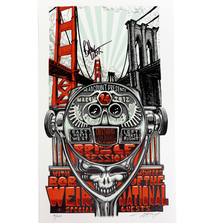 2012 Bridge Session Poster Signed by Bob Weir of The Grateful Dead & Furthur