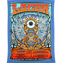 1st Annual Lockn' Festival Poster Signed by Trey Anastasio, Bob Weir, Warren Haynes, Widespread Panic, Chris Robinson & Many Others