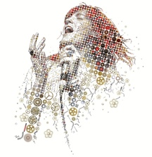 Florence Welch Mosaic Portrait by Charis Tsevis