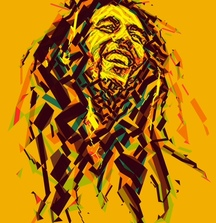 Print of Bob Marley Portrait by Charis Tsevis for the Reggae Hall of Fame