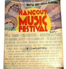 Hangout Music Festival 2011 Poster Signed by Dave Schools and Grace Potter