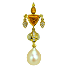 The Perfect Gift: a Paula Crevoshay Pearl and Diamond Pendant