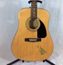 Lucinda Williams Signed Fender Acoustic Guitar