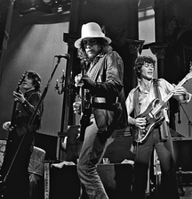 Bob Dylan and Robbie Robertson at The Last Waltz, Signed Limited Edition Photo by Celebrated Rock Photographer Neal Preston