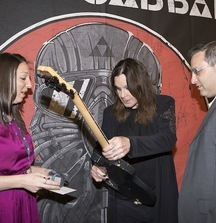 Black Sabbath Custom Ibanez Guitar Signed by Ozzy Osbourne, Tony Iommi & Geezer Butler