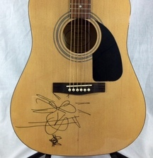 Fender Acoustic Guitar Signed by Kesha!