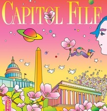 Capitol File One-of-a-Kind Peter Max Magazine Cover