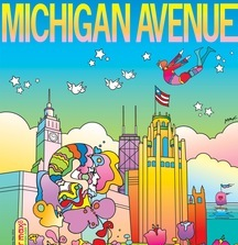 Michigan Avenue Peter Max Magazine Cover