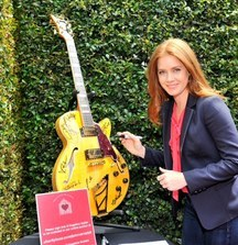D'Angelico Guitar Signed by Jessica Simpson, Gene Simmons, LL Cool J, Amy Adams & 18 Other Celebrities from the John Varvatos 11th Annual Stuart House Benefit