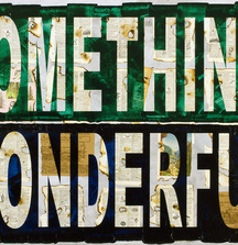 Something Wonderful, 2013 Acrylic Paint & Collage on Canvas By Peter Tunney