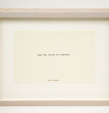 Ask the Clouds to Remember, 2013 Ink On Paper By Yoko Ono