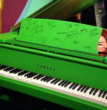 Celebrate the Release of Muppets Most Wanted on Blu-Ray/DVD August 12th with a Yamaha Disklavier Green Piano, Signed by Ricky Gervais, Ty Burrell, Tina Fey & Many More