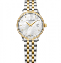 Accessorize with a Gorgeous Ladies' Toccata 29mm Diamond Timepiece from Raymond Weil Genève