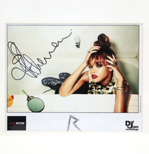Framed Autographed Photo of Rihanna