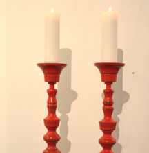 One-Of-A-Kind Michael Scarborough Candlesticks