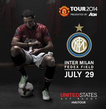 Match Day Package for Two to Manchester United Summer Tour 2014 Match against Inter Milan at FedEx Field in Washington, DC on July 29, 2014