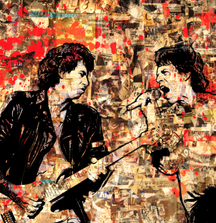 Mick and Keith Portrait on Plexy by Paul Gerben