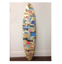 LIVE BID! One-of-a-Kind Surfboard Designed and Signed by Lisa Pevaroff-Cohn