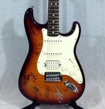 Fender Stratocaster Guitar Signed by The Doobie Brothers