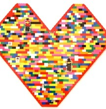 Giant Multi Color Lego Heart, 2014 Legos By Dee and Ricky