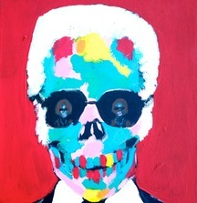Inseperable_Karl, 2014 Acrylic on Canvas by Bradley Theodore