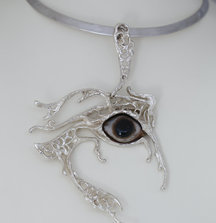 Necklace and Eye Pendant by Silvia Cerroni