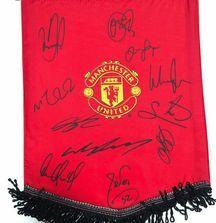 Manchester United Team Signed Flag