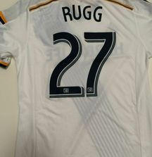 Charlie Rugg Game Worn LA Galaxy Jersey from 2014 Tour