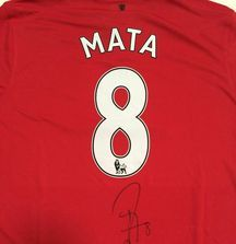 2014-2015 Juan Mata Signed Manchester United Jersey with Certificate of Authentcity