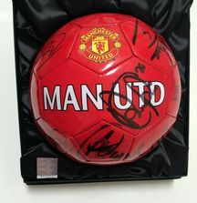 Manchester United Team Signed Ball with Certificate of Authenticity