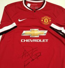 2014-2015 Manchester United Jersey Signed by Manager Louis van Gaal with Certificate of Authenticity
