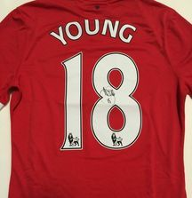 Ashley Young Game Worn and Signed Jersey with Certificate of Authenticity from August 4th, 2014