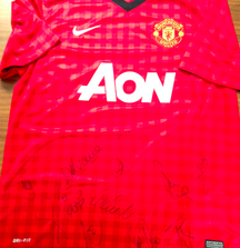 2012-2013 Team Signed Manchester United Jersey with Certificate of Authenticity