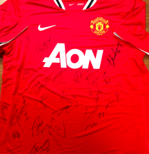 2011-2012 Team Signed Manchester United Jersey with Certificate of Authenticity
