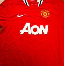 Signed Manchester United Ashley Young Jersey from 2011-2012 Season