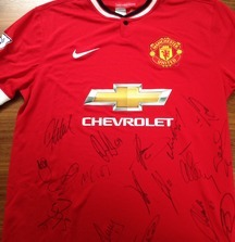 Manchester United Team Signed Jersey from 2014-2015 Season Including Certificate of Authenticity