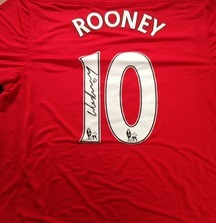 Signed Wayne Rooney 2011-2012 Season Manchester United Jersey Including Certificate of Authenticity