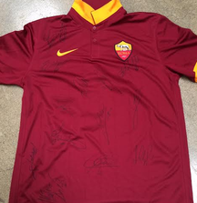 Francesco Totti Jersey Signed by Entire AS Roma Team During 2014 US Tour Including Certificate of Authenticity