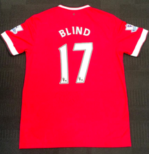 Signed Daley Blind Manchester United Jersey from the 2014-2015 Season