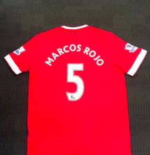 Signed Marcos Rojo Manchester United Jersey from the 2014-2015 Season