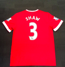 Signed Luke Shaw Manchester United Jersey from the 2014-2015 Season