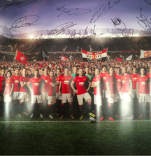 2014 Manchester United Poster Signed by the Entire Team