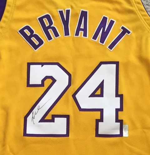 rkbulp Charitybuzz: Authentic Los Angeles Lakers Jersey Signed by Kobe