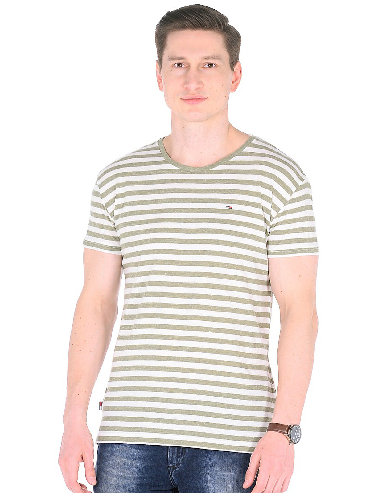 T-shirt in cotone a righe TOMMY | 8 | DM0DM01831393