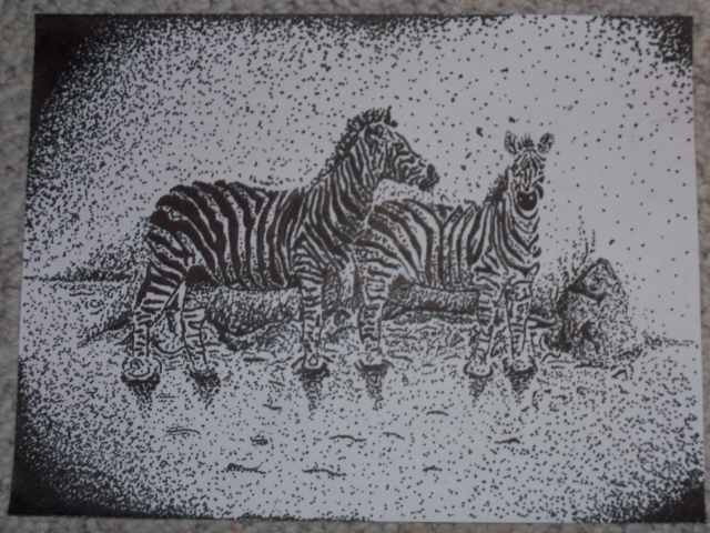 zebra stippling project
