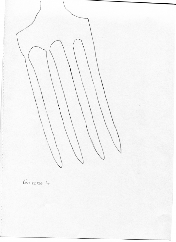 line-drawing-fork