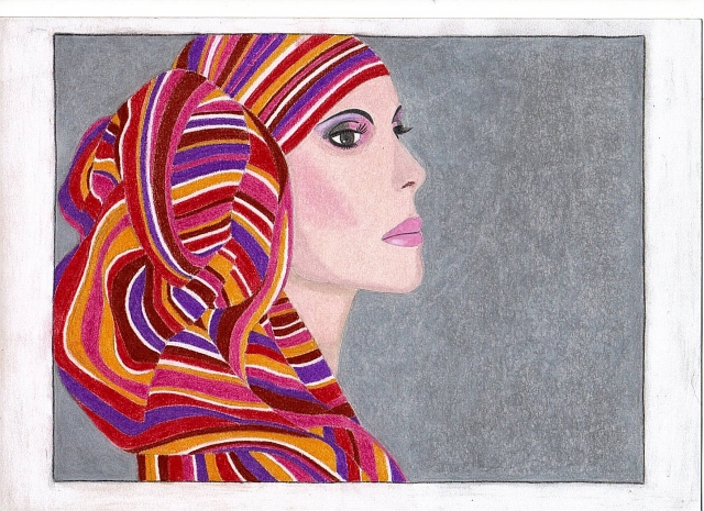 Woman - scarf