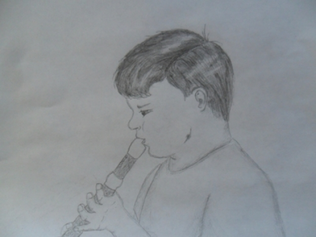 Boy with Recorder.