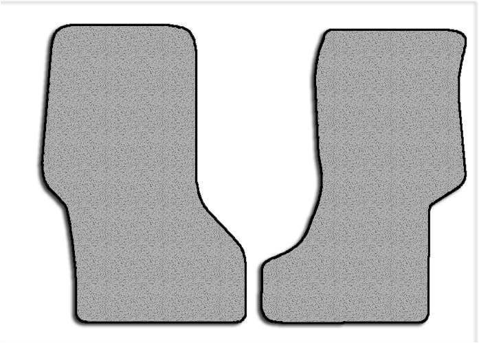 2003-2016 GMC Savana 2 pc Front Factory Fit Floor Mats