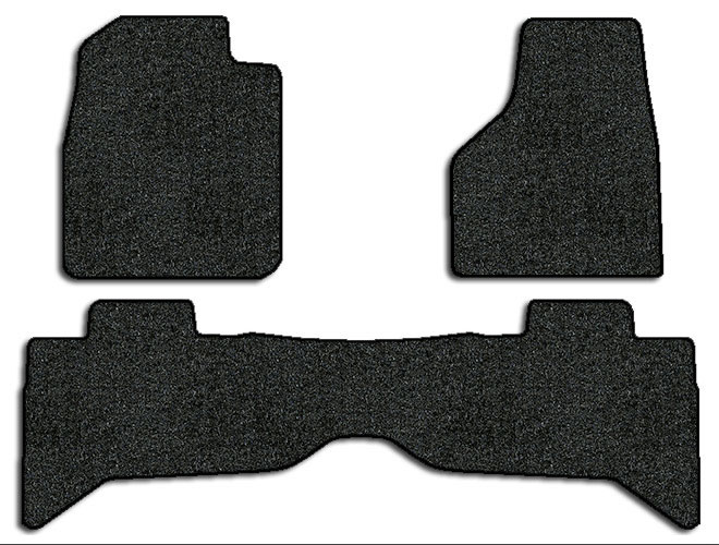 2009-2010 Dodge Ram 1500 3 pc Set Factory Fit Floor Mats (Quad Cab)